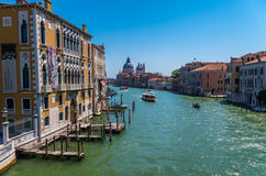 Venecian canal in summer day, Venice, Italy. Water chanel at Venice, Italy Stock Image