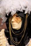 Venecian Carneval Schablone Blocken-Weiß Lizenzfreie Stockfotos