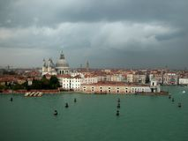 Venecian city and waterways Stock Photography