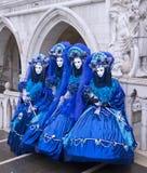 venecian karneval Arkivbild
