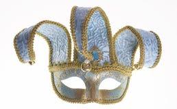 Máscara veneciana azul del carnaval Imagenes de archivo