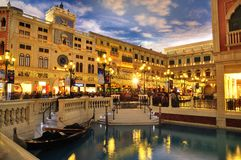 Veneciano en Macau en Asia Imagenes de archivo