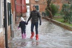 Venedig überschwemmte Stockfotografie