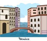 Venedig vektor illustrationer