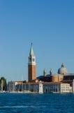 Venedig-Ansicht über ein helles Stockbilder
