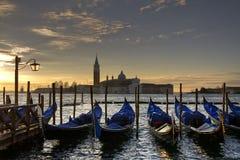 Venedig, Ansicht der Lagune von St Mark Quadrat Stockbilder