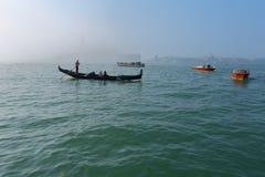 VENEDIG - APRIL 10, 2017: Sikten på sjösidan bredvid St Mark ` s Fotografering för Bildbyråer