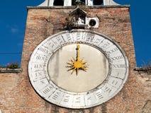 Venedig - belltowerklocka royaltyfri fotografi