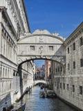 Venedig: Brücke von Seufzern Stockbild