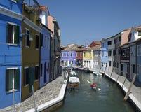 Venedig - Burano - Italien Royaltyfri Bild