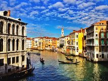 Venedig-Canal Grande Lizenzfreies Stockbild