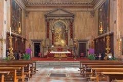 Venedig - Chiesa di San Trovaso kyrka Royaltyfria Foton