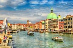 Venedig cityscape arkivfoton