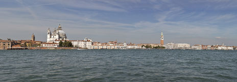 Venedig cityscapepanorama, siktsfronlagun italy Royaltyfri Fotografi