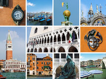 Venedig collage Royaltyfria Foton