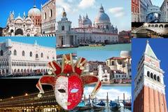 Venedig collage royaltyfri fotografi