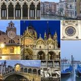 Venedig-Collage Lizenzfreies Stockfoto