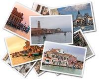 Venedig collage arkivfoton