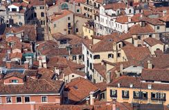 Venedig-Dächer lizenzfreie stockfotos