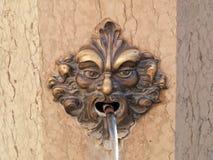 Venedig dekorativ bronsspringbrunn royaltyfri bild