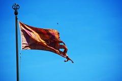 Venedig - den venetian flaggan arkivbild