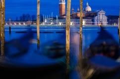 Venedig in der blauen Stunde Lizenzfreies Stockfoto