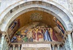 Venedig, Detail eines byzantinischen Mosaiks gesetzt über einen der Eingänge des St. Mark Basilica Stockfotos