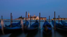 Venedig efter solnedgång Fotografering för Bildbyråer