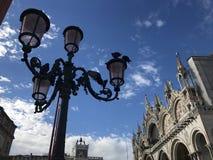Venedig en typisk trädgård arkivbild