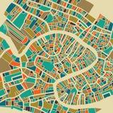 Venedig färgrikt stadsplan Arkivbilder