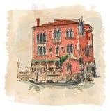 Venedig - forntida byggnad Royaltyfria Bilder