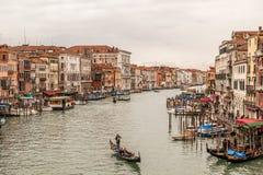 Venedig från den Rialto bron Arkivbilder