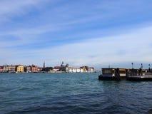 Venedig från havet Arkivbild