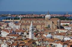 Venedig från klockatornet royaltyfri bild
