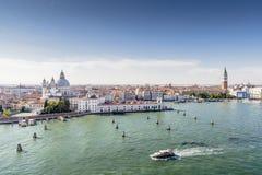 Venedig från kryssningskeppet Fotografering för Bildbyråer