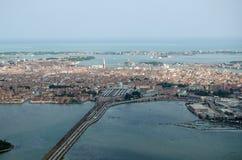 Venedig från luften Fotografering för Bildbyråer