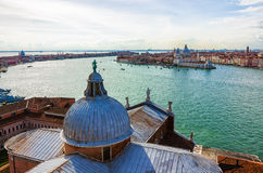 Venedig från San Giorgio Arkivbilder