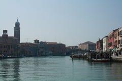 Venedig från vaporettoen Fotografering för Bildbyråer