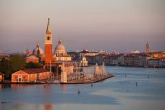 Venedig am frühen Morgen Stockbilder