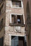 Venedig gammalt facadehus Fotografering för Bildbyråer