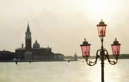 Venedig, gemalt Stockfotografie