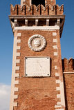 Venedig, Glockenturm des Arsenals, Sonnenuhr Stockbild