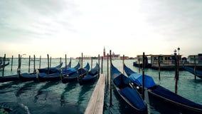 Venedig-Gondel Gondel auf Grand Canal, Quadrat Sans Marko, Italien 4K stock video