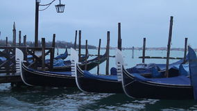 Venedig-Gondeln stock video footage