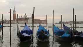 Venedig gondol arkivfilmer