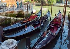 Venedig gondol Fotografering för Bildbyråer