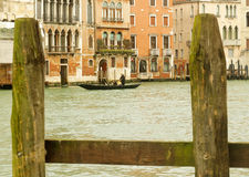 Venedig gondol på Grand Canal Royaltyfri Fotografi