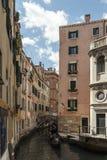 Venedig & gondolen Fotografering för Bildbyråer