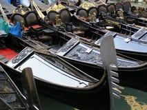 Venedig gondoler Arkivfoto
