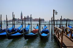Venedig gondoler Arkivbild